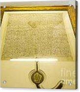 Magna Carta Acrylic Print