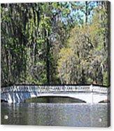 Charleston Sc Magnolia Gardens  Acrylic Print by Ella Char