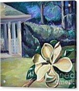 Magnolia In Moonlight Acrylic Print by Ellen Howell