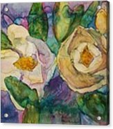 Magnolia Kaleidescope Acrylic Print