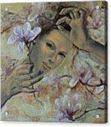 Magnolias Acrylic Print by Dorina  Costras