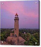 Mahabalipuram Lighthouse India At Sunset Acrylic Print