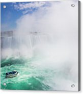 Maid Of The Mist Boat Tours Taking Acrylic Print