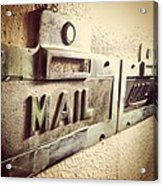 Mail Lost In Time Acrylic Print