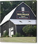 Mail Pouch Barn And Two Foxes Acrylic Print
