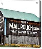 Mail Pouch Tobacco Barn II Acrylic Print