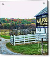 Mail Pouch Tobacco Barn In The Fall Acrylic Print