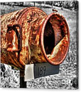 Mailbox With Character Acrylic Print