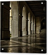 Main Building Arches University Of Texas Acrylic Print