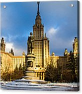 Main Building Of Moscow State University On Sparrow Hills - 2 - Featured 3 Acrylic Print