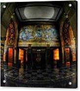 Main Lobby Of City Hall Buffalo Ny Rear Acrylic Print