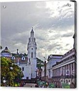 Main Square In Quito Ecuador Acrylic Print