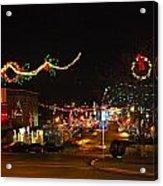 Main St. Christmas Lights Acrylic Print