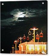Main St Pier Sky Lift Acrylic Print by Paulette Maffucci