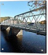 Main Street Bridge Shelbourne Falls  Acrylic Print