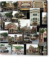 Main Street Disneyland Collage 02 Acrylic Print