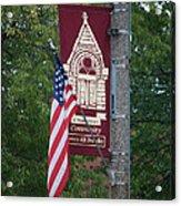 Main Street Flags Dwight Il Acrylic Print