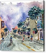 Main Street Half Moon Bay Acrylic Print by Diane Thornton