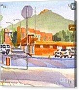 Main Street In Morning Shadows Acrylic Print