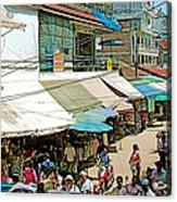 Main Street Marketplace In Tachilek-burma Acrylic Print