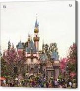 Main Street Sleeping Beauty Castle Disneyland 02 Acrylic Print