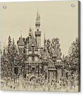 Main Street Sleeping Beauty Castle Disneyland Heirloom 01 Acrylic Print