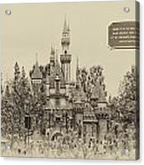 Main Street Sleeping Beauty Castle Disneyland Heirloom 03 Acrylic Print