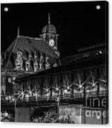 Main Street Station In Black And White Acrylic Print
