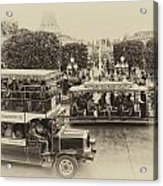 Main Street Transportation Disneyland Heirloom Acrylic Print