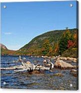 maine 1 Acadia National Park Jordan Pond in Fall Acrylic Print