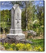 Maine At Gettysburg - 5th Maine Volunteer Infantry Regiment Just North Of Little Round Top Acrylic Print by Michael Mazaika