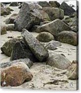 Maine Beach Rocks Acrylic Print