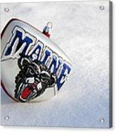Maine Black Bears Ornament Acrylic Print
