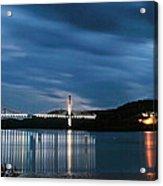 Maine Bridge And Fort Knox  Acrylic Print
