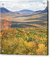 Maine Mountains In Fall Mount Blue State Park  Acrylic Print