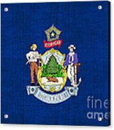 Maine State Flag Acrylic Print by Pixel Chimp