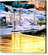 Maine Winter Along The Androscoggin River Acrylic Print