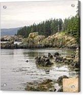Maine's Beautiful Rocky Shore Acrylic Print