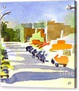 Main Street In Evening Shadows Acrylic Print