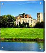 Maisemore Court And Church Acrylic Print
