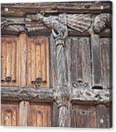 Maison De Bois Macon - Detail Wood Front Acrylic Print