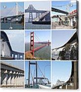 Majestic Bridges Of The San Francisco Bay Area Acrylic Print