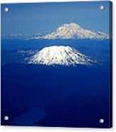 Majestic Northwest Mountains And The Mighty Columbia River Acrylic Print