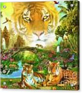 Majestic Tiger Grotto Acrylic Print