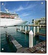 Majesty Of The Seas Docked At Key West Florida Acrylic Print