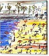 Majorca Playa Acrylic Print by Anthony Fox
