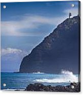 Makapuu Point Lighthouse- Oahu Hawaii Acrylic Print
