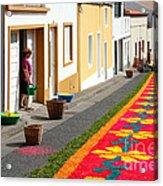 Making Flower Carpets Acrylic Print