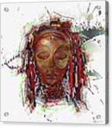 Makonde Mapiko - Lipiko Mask Acrylic Print