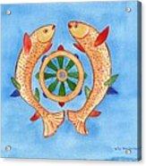 Makya Golden Fish Acrylic Print